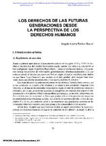 LOS DERECHOS DE LAS FUTURAS GENERACIONES DESDE LA PERSPECTIVA DE LOS DERECHOS HUMANOS