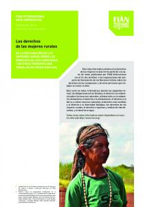 Los derechos de las mujeres rurales