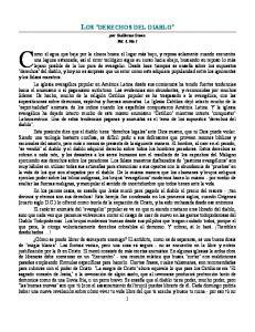 LOS DERECHOS DEL DIABLO