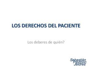 LOS DERECHOS DEL PACIENTE