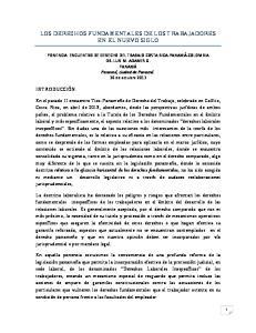 LOS DERECHOS FUNDAMENTALES DE LOS TRABAJADORES EN EL NUEVO SIGLO