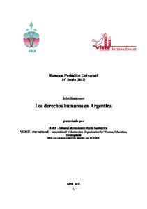 Los derechos humanos en Argentina
