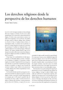Los derechos religiosos desde la perspectiva de los derechos humanos
