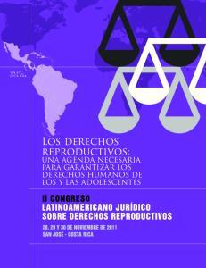 Los derechos reproductivos: UNA AGENDA NECESARIA PARA GARANTIZAR LOS DERECHOS HUMANOS DE LOS Y LAS ADOLESCENTES