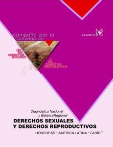LOS DERECHOS SEXUALES Y LOS DERECHOS REPRODUCTIVOS EN HONDURAS