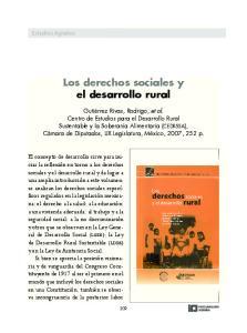Los derechos sociales y el desarrollo rural
