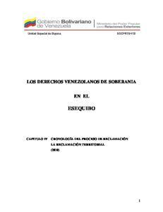 LOS DERECHOS VENEZOLANOS DE SOBERANIA