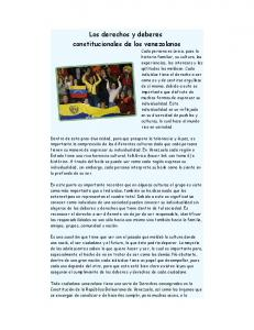 Los derechos y deberes constitucionales de los venezolanos
