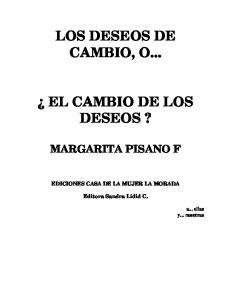LOS DESEOS DE CAMBIO, O... EL CAMBIO DE LOS DESEOS?