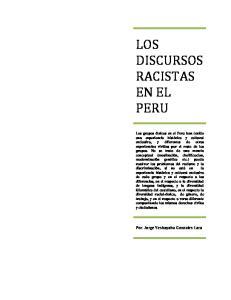 LOS DISCURSOS RACISTAS EN EL PERU