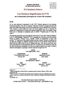 Los Distintos Significados de 5770