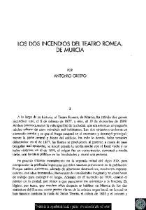 LOS DOS INCENDIOS DEL TEATRO ROMEA, DE MURCIA