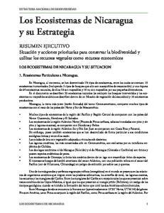 Los Ecosistemas de Nicaragua y su Estrategia