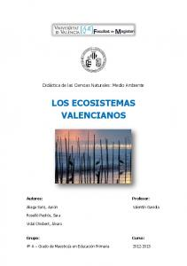 LOS ECOSISTEMAS VALENCIANOS