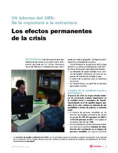 Los efectos permanentes de la crisis