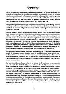 LOS ELEMENTOS C. R. Hammond