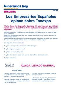 Los Empresarios Españoles opinan sobre Tanexpo