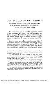 LOS ESCLAVOS DEL CHOCO