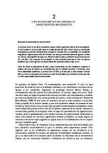 LOS ESTUDIANTES DE UNIVALLE: UNOS NUEVOS MIGRANTES