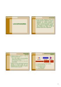 LOS EXPANSORES EXPANSORES. EXPANSORES Funciones