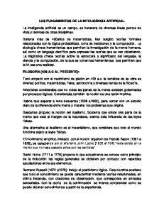 LOS FUNDAMENTOS DE LA INTELIGENCIA ARTIFICIAL