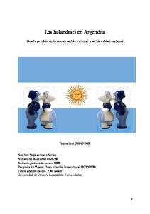 Los holandeses en Argentina