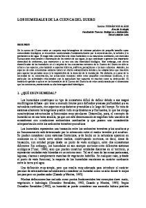 LOS HUMEDALES DE LA CUENCA DEL DUERO