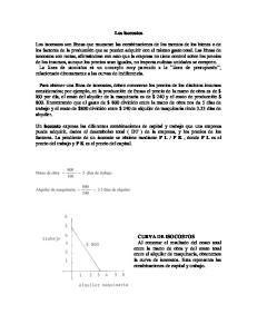 Los isocostos isocosto DT P L P K P L P K CURVA DE ISOCOSTOS