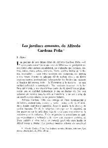 Los jardines amantes, de Alfredo Cardona Pefia*