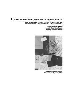 LOS MANUALES DE CONVIVENCIA ESCOLAR EN LA