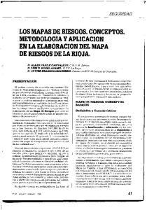 LOS MAPAS DE RIESGOS. CONCEPTOS. METODOLOGIA Y APLICACION EN LA ELABORACION DEL MAPA DE RIESGOS DE LA RIOJA