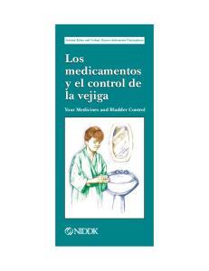 Los medicamentos y el control de la vejiga