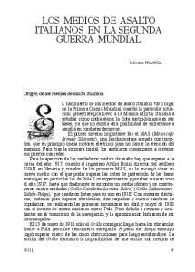LOS MEDIOS DE ASALTO ITALIANOS EN LA SEGUNDA GUERRA MUNDIAL