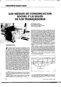 LOS MEDIOS DE COMUNICACION SOCIAL Y LA SALUD DE LOS TRABAJADORES