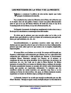 LOS MISTERIOS DE LA VIDA Y DE LA MUERTE