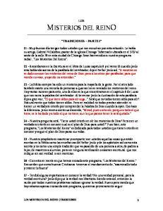 LOS MISTERIOS DEL REINO TRADICIONES PARTE 1