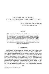 LOS MITOS DE LA PRENSA Y LOS VOTOS EN LAS ELECCIONES DE 1990