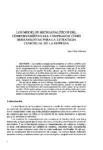 LOS MODELOS MICROANALITICOS DEL COMPORTAMIENTO DEL COMPRADOR COMO HERRAMIENTAS PARA LA ESTRATEGIA COMERCIAL DE LA EMPRESA