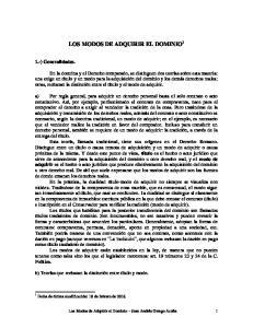 LOS MODOS DE ADQUIRIR EL DOMINIO 1