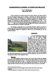 LOS MOLINOS DE LA SERENA: LA CUENCA DEL MOLAR (II)