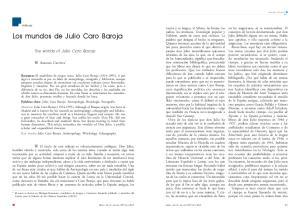Los mundos de Julio Caro Baroja