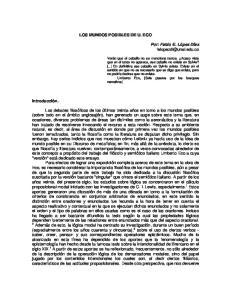 LOS MUNDOS POSIBLES DE U. ECO