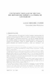 LOS MUNDOS VIRTUALES DE MECANO: DEL REFLEJO DEL ESPEJO A LA FORMA DE LOS MARCOS'