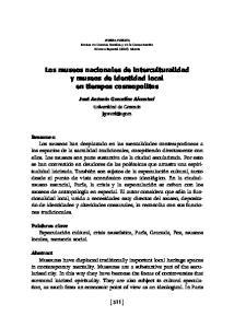 Los museos nacionales de interculturalidad y museos de identidad local en tiempos cosmopolitas