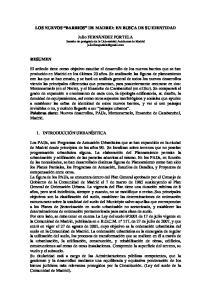 LOS NUEVOS BARRIOS DE MADRID: EN BUSCA DE SU IDENTIDAD