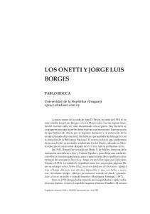LOS ONETTI Y JORGE LUIS BORGES