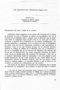LOS ORIGENES DEL MONACATO (Siglos IV-V)