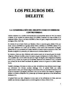 LOS PELIGROS DEL DELEITE