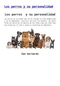 Los perros y su personalidad. Los perros y su personalidad