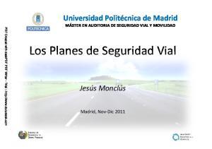Los Planes de Seguridad Vial
